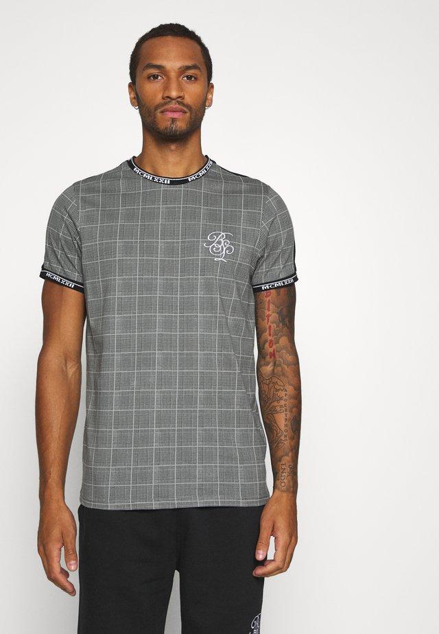 MULLET - T-shirt z nadrukiem - black/grey