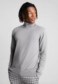 Brave Soul - HUME - Stickad tröja - dark grey marl - 0