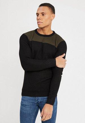 HERMES - Sweter - black/khaki
