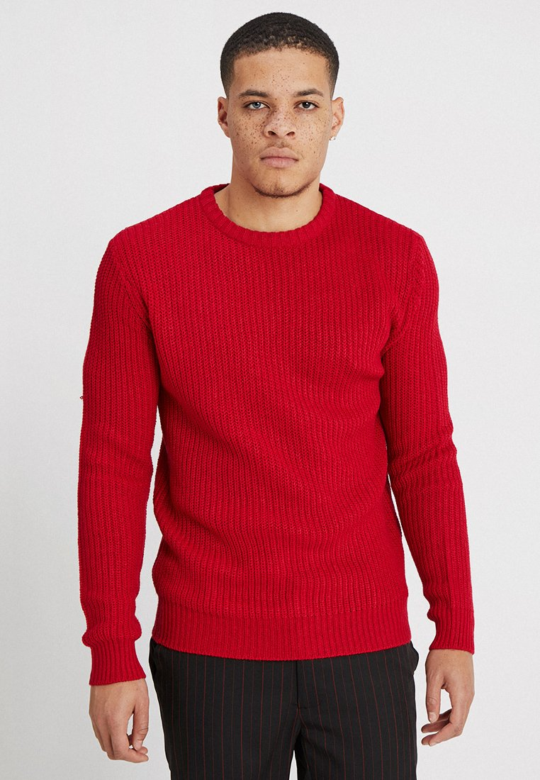 Brave Soul - Strickpullover - berry red/mid night