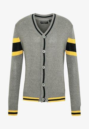 SULLIVAN - Cardigan - silver grey/french navy/golden yellow
