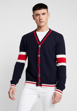 SULLIVAN - Cardigan - french navy/ red/ vintage white