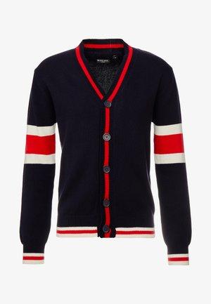 SULLIVAN - Cardigan - french navy/ red/ vintage white