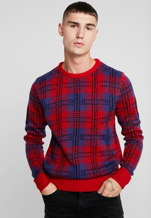 RAINSFORD - Pullover - red/ navy