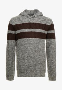 Brave Soul - LYNBROOKE PLUS - Hoodie - grey/ bordeaux - 4
