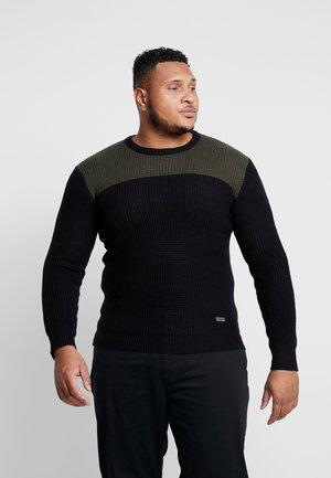 PLUS - Svetr - black/khaki