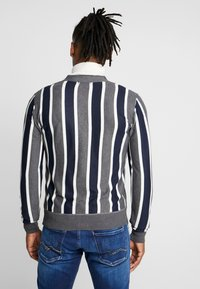 Brave Soul - DUTTON - Cardigan - dark grey marl/navy/ecru - 2