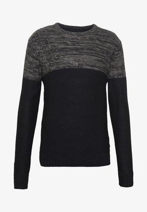 ROLAND - Svetr - black/charcoal twist
