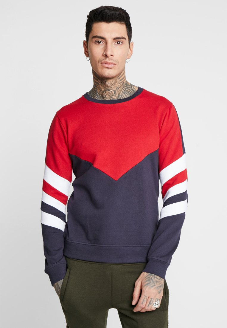 Brave Soul - ALARIC - Sweatshirt - red/navy