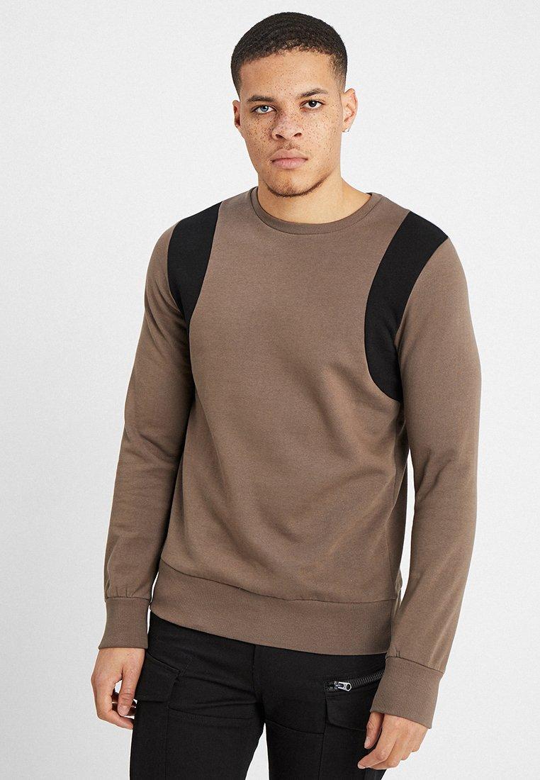 Brave Soul - CURVE - Sweater - taupe/black