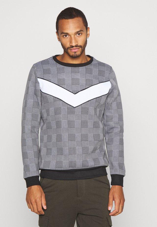 LINGTON - Sweatshirt - white/black