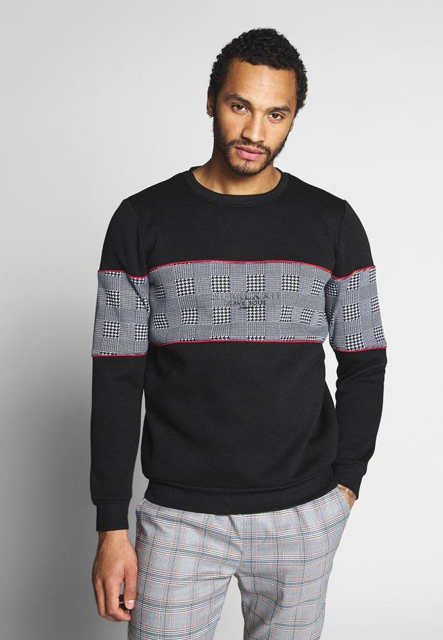 CLAPTON - Sweatshirt - black/red