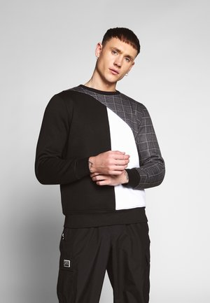 BENZAL - Sweatshirt - white/ black