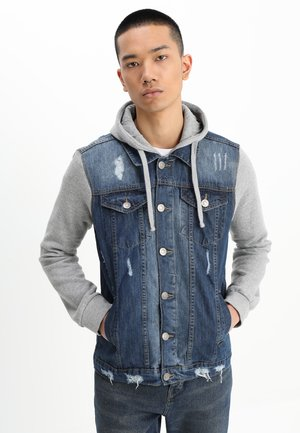 Kurtka jeansowa - blue denim/grey