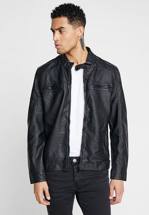 JONES - Faux leather jacket - black