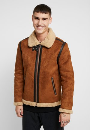 JASPER - Faux leather jacket - tan