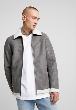 SIMMONS - Faux leather jacket - grey