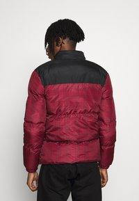 Brave Soul - CASSIUS - Winter jacket - black upper/red print - 2