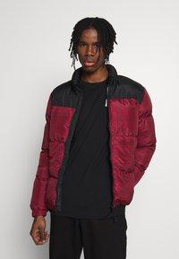Brave Soul - CASSIUS - Winter jacket - black upper/red print - 0