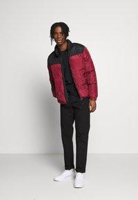 Brave Soul - CASSIUS - Winter jacket - black upper/red print - 1