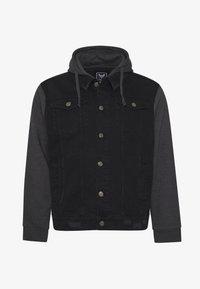 Brave Soul - Denim jacket - black denim/dark grey - 4