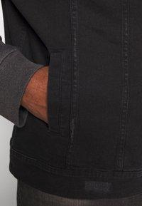 Brave Soul - Denim jacket - black denim/dark grey - 5