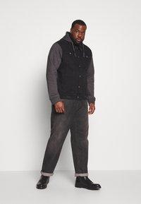 Brave Soul - Denim jacket - black denim/dark grey - 1