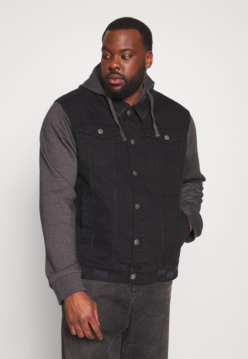 Brave Soul - Denim jacket - black denim/dark grey