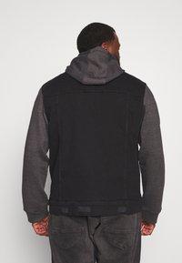 Brave Soul - Denim jacket - black denim/dark grey - 2