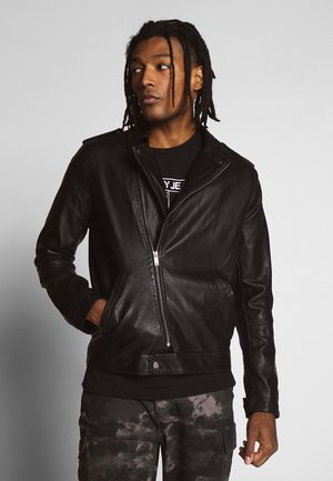 CONEYBLACK - Faux leather jacket - black