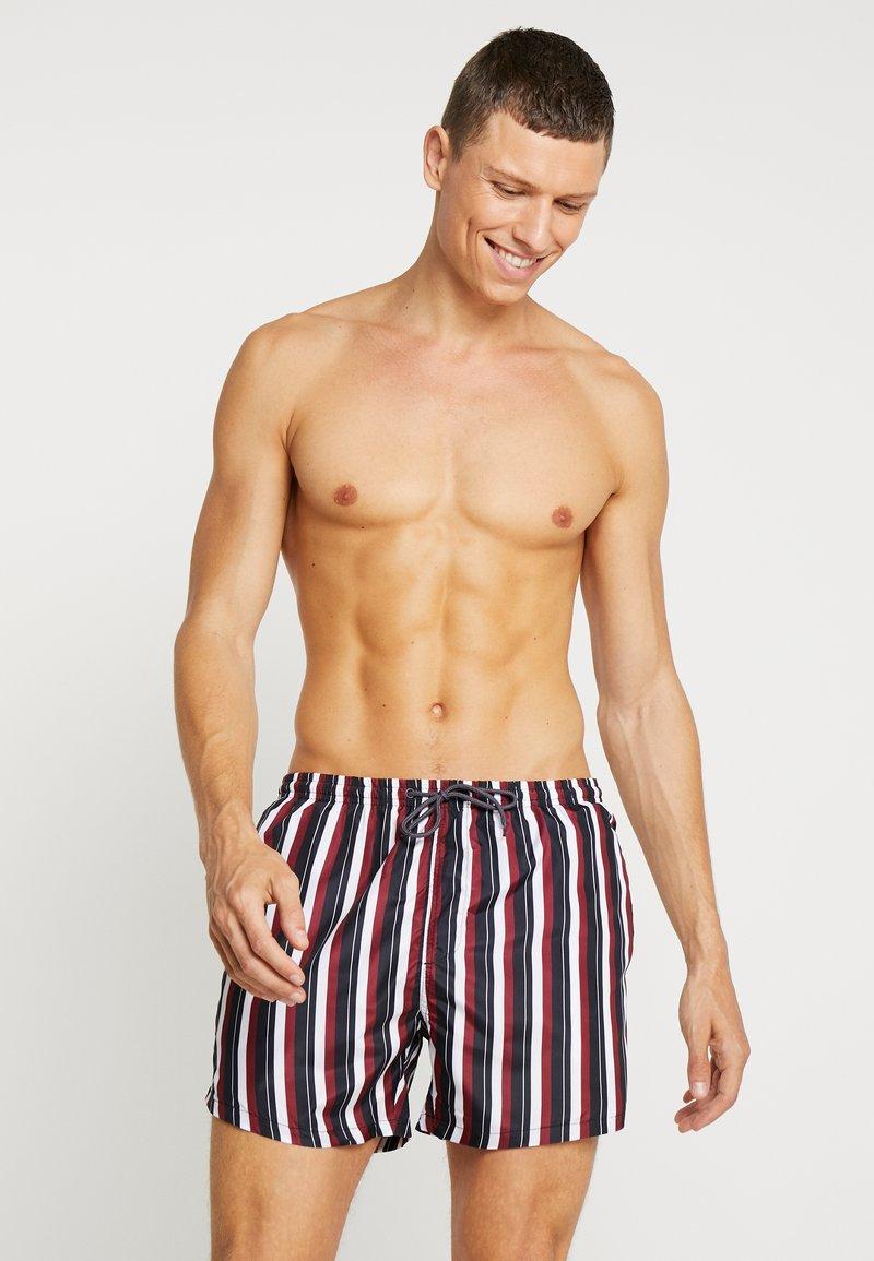 Brave Soul - CLACTON - Swimming shorts - black/burg/off white
