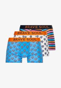 Brave Soul - BALLOON 3 PACK - Boxerky - white/orange/cobalt - 3