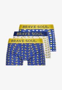 Brave Soul - BANANAS 3 PACK - Onderbroeken - navy/lemon/white - 3