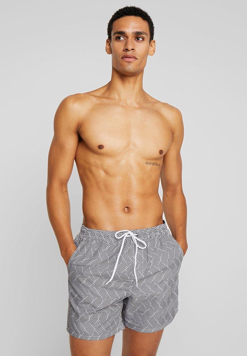 Brave Soul - SKIPTON - Swimming shorts - black/white
