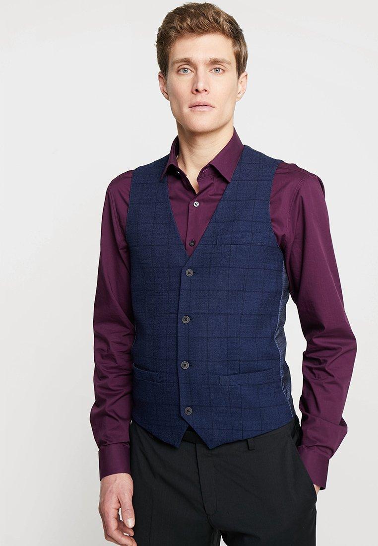 Bruun & Stengade - DIO SLIM FIT - Waistcoat - dark blue