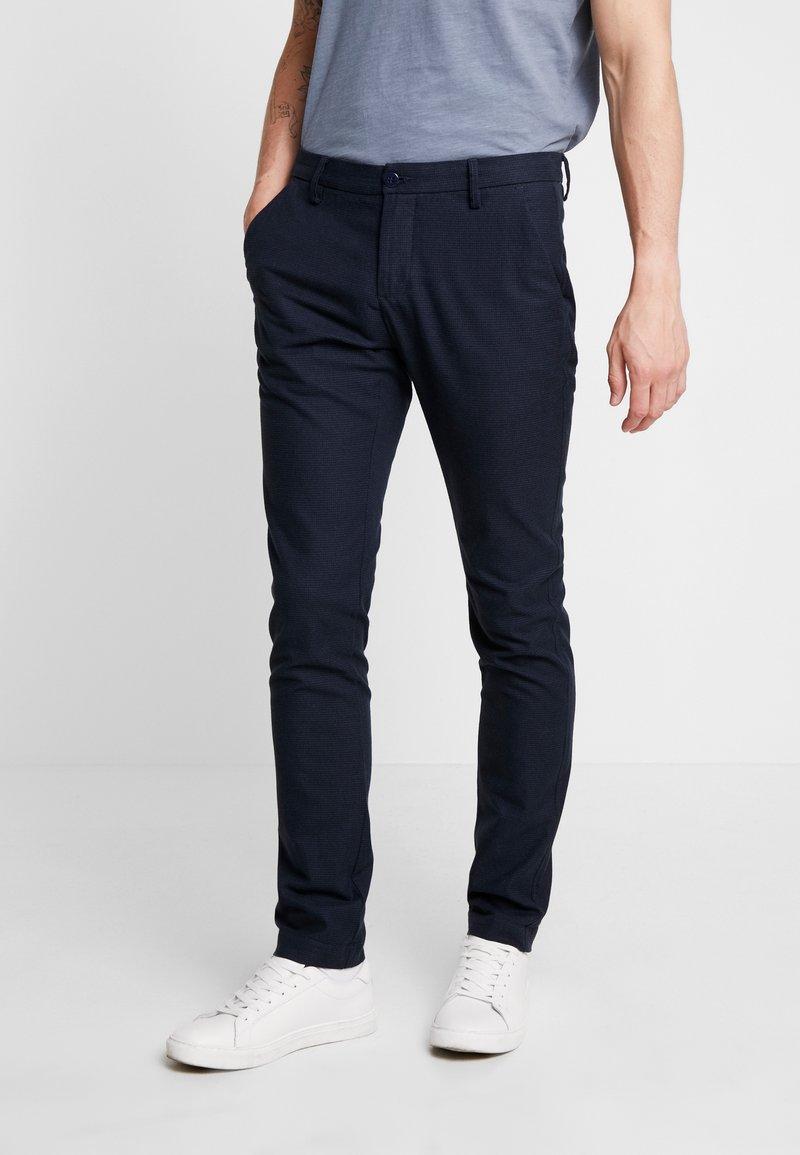Bruun & Stengade - KLAY - Pantalones chinos - navy