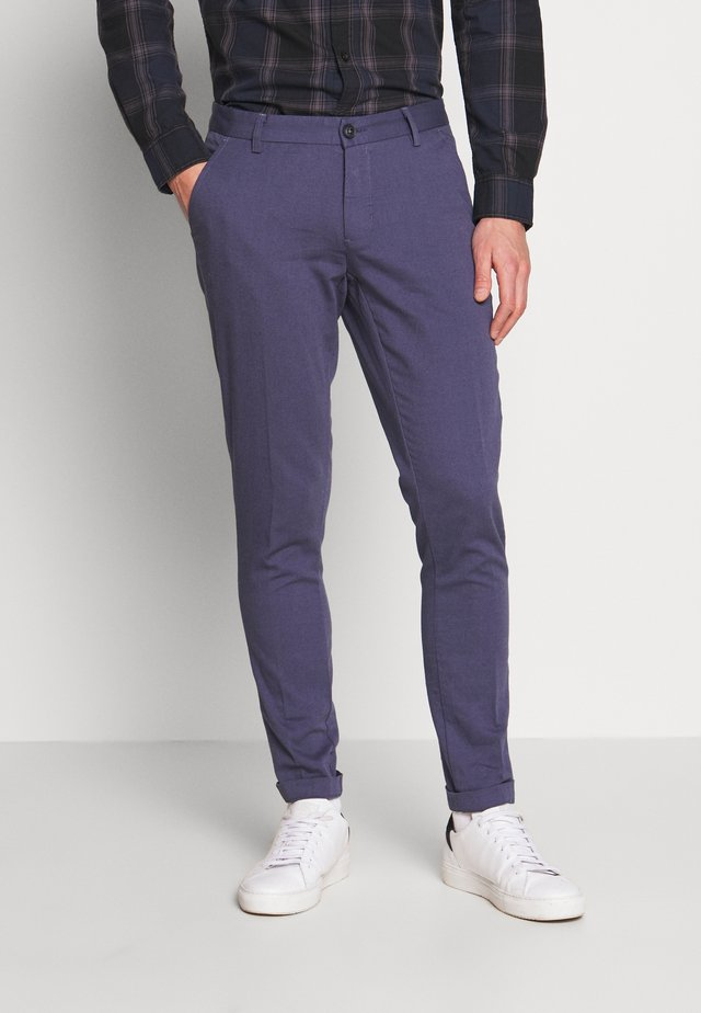 ROLF SLIM - Trousers - navy