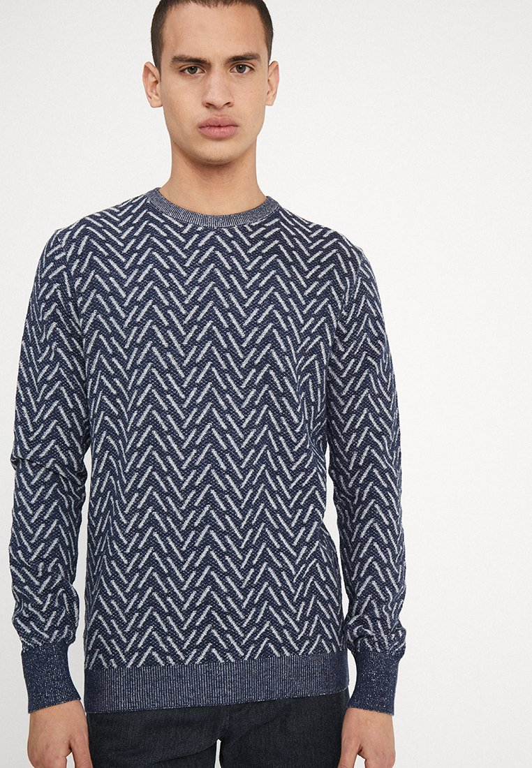 Bruun & Stengade - CARBONE REGULAR FIT - Jumper - navy