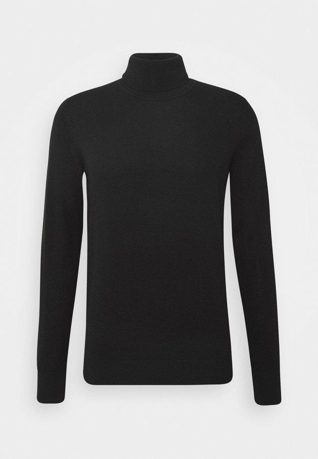 SATURN - Strickpullover - black