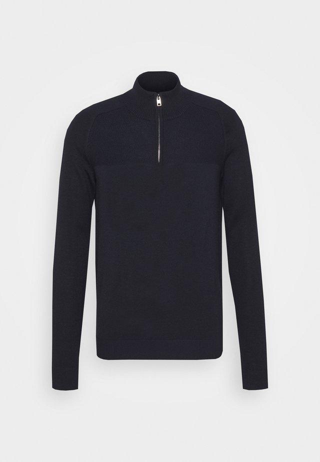 PIVERT - Stickad tröja - navy