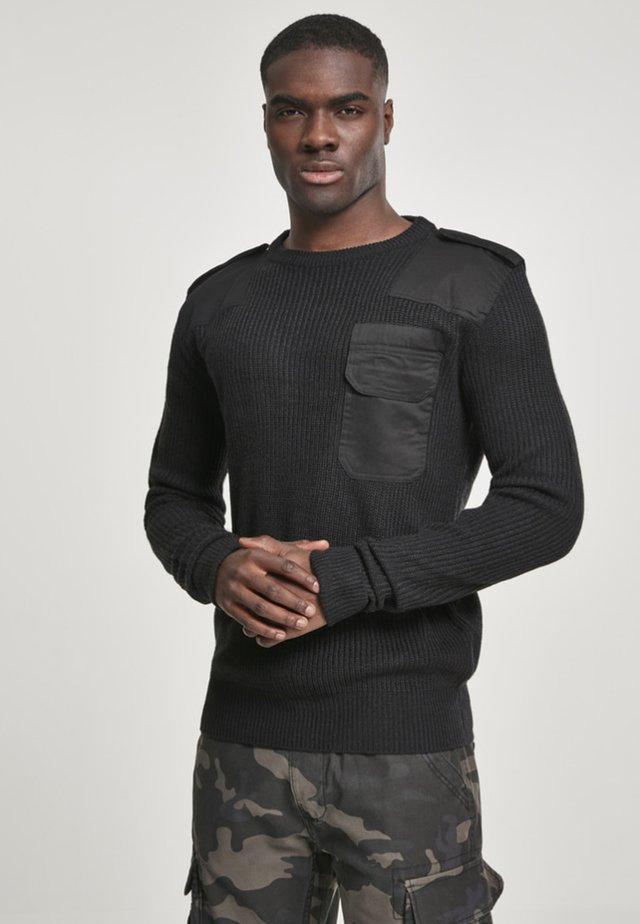 HERREN BW PULLOVER - Pullover - black