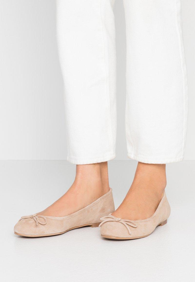 Brenda Zaro Wide Fit - WIDE FIT CARLA - Ballet pumps - pietra