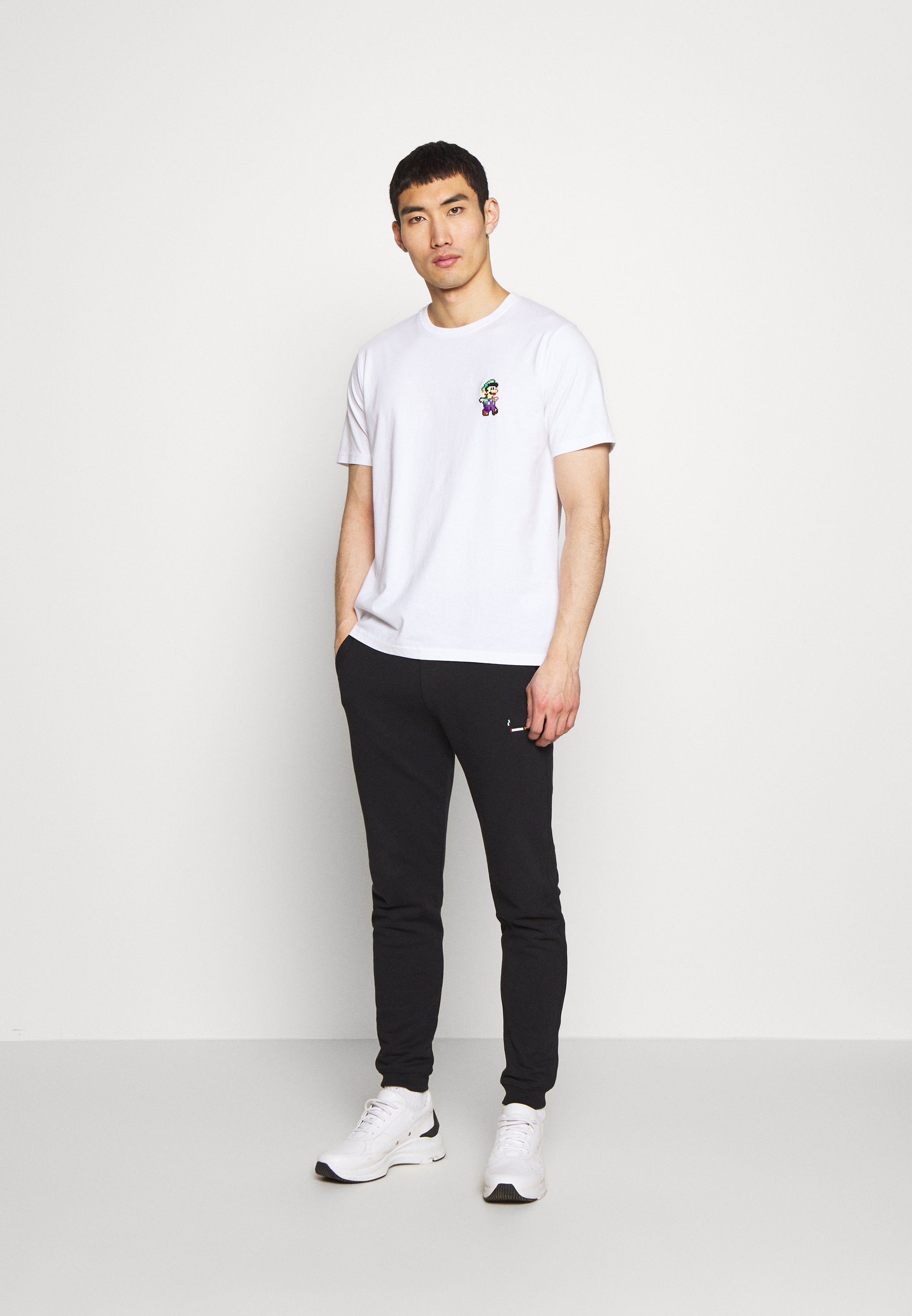Bricktown LUIGI SMALL - T-shirt con stampa - white