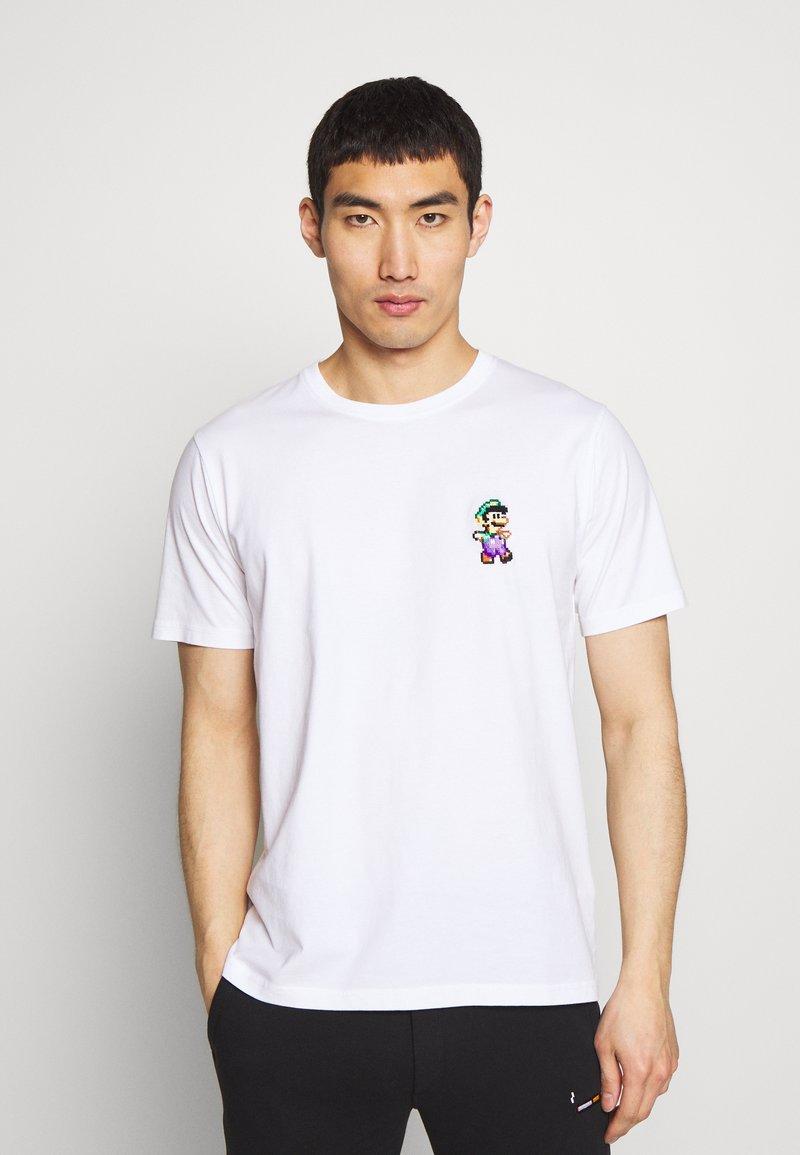 Bricktown - LUIGI SMALL - Print T-shirt - white