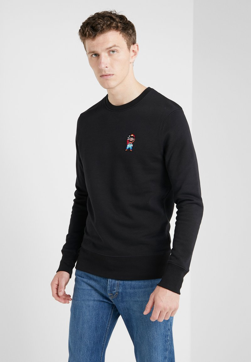 Bricktown - BLACK SMALL MARIO PEACE - Sweatshirts - black