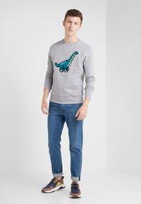 Bricktown - BIG DINOSAUR - Sweatshirt - heather grey - 1