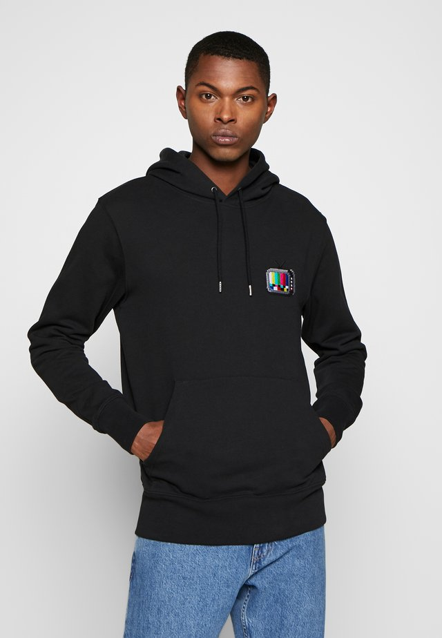 HOODIE TV SMALL - Luvtröja - black