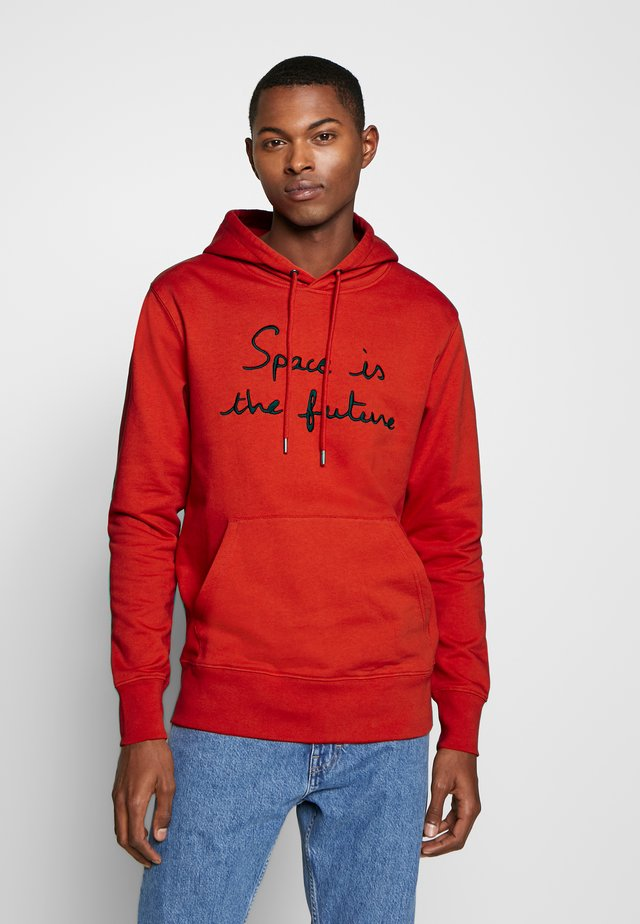 HOODIE SPACE IS THE FUTURE - Luvtröja - red