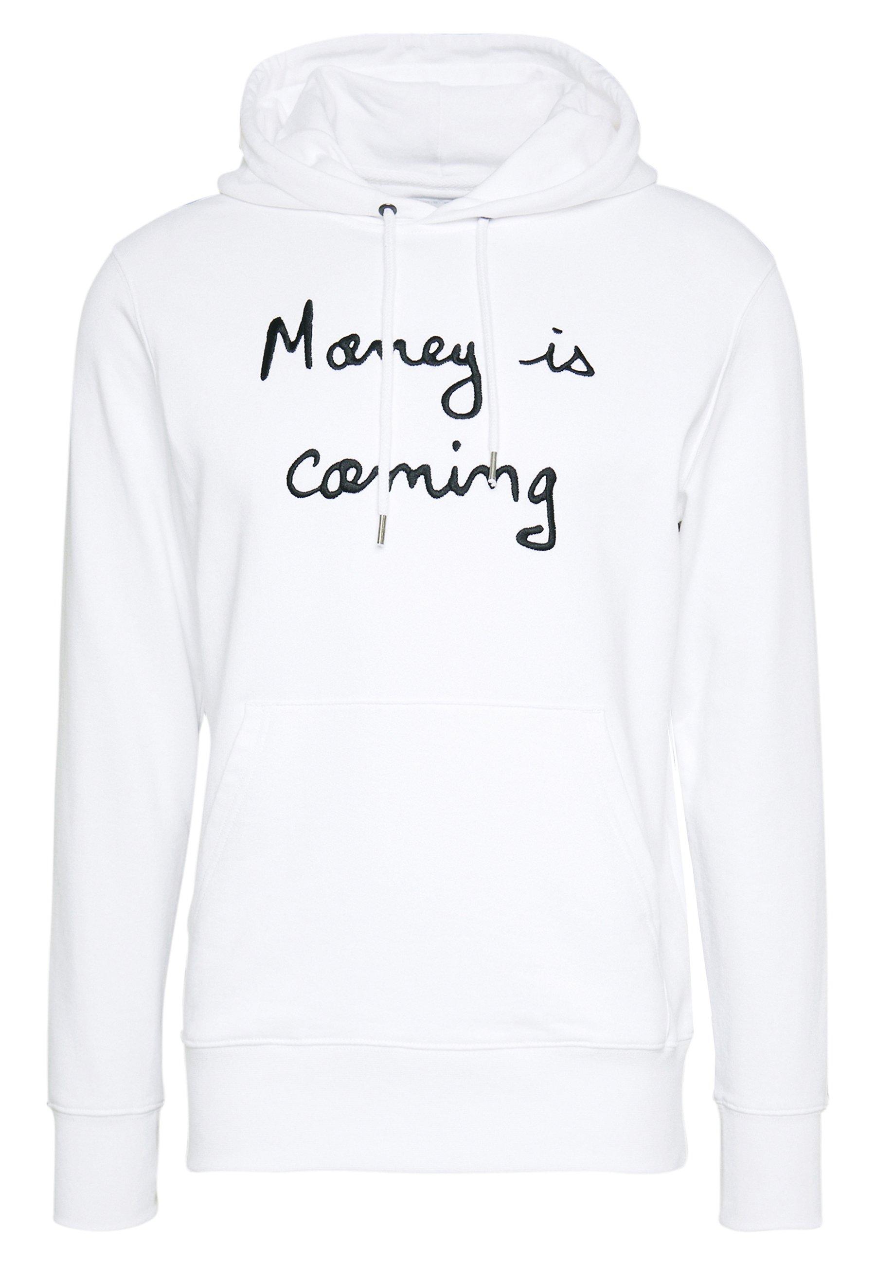 Bricktown Hoodie Money Is Coming Big - Luvtröja White