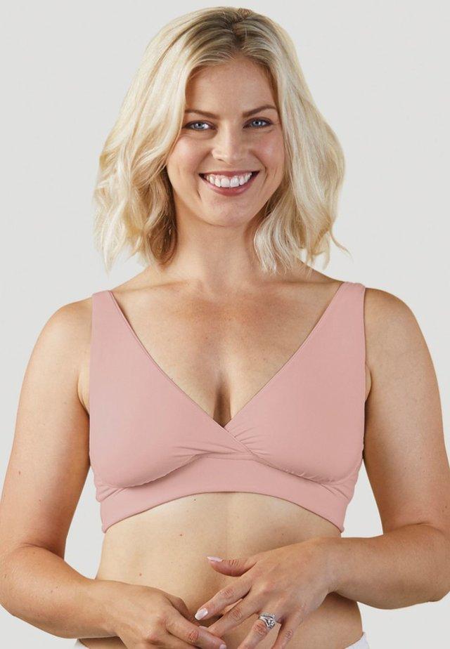 Kaarituettomat rintaliivit - light pink